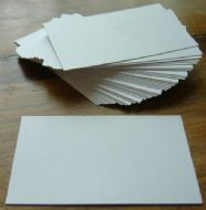 100 x White Blank Business Cards - 250gsm Ultra White Card
